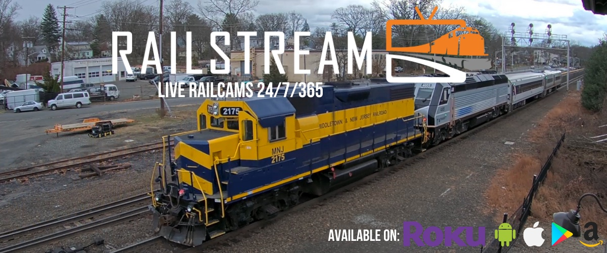 View from Waldwick, NJ railcam. Live Railcams 24/7/365.